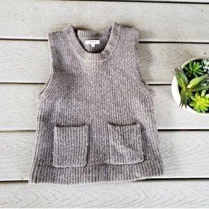 Madewell Merino Wool Ribbed Sweater Vest Tank Top